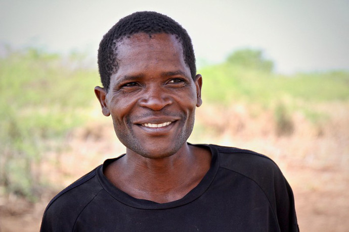 Fanuel Pensulo in Masunduko, Chikwawa, Southern Malawi.  His crops were destroyed when Cyclone Idai hit the village in the middle of the night. Photo: Alan Whelan/Trócaire.