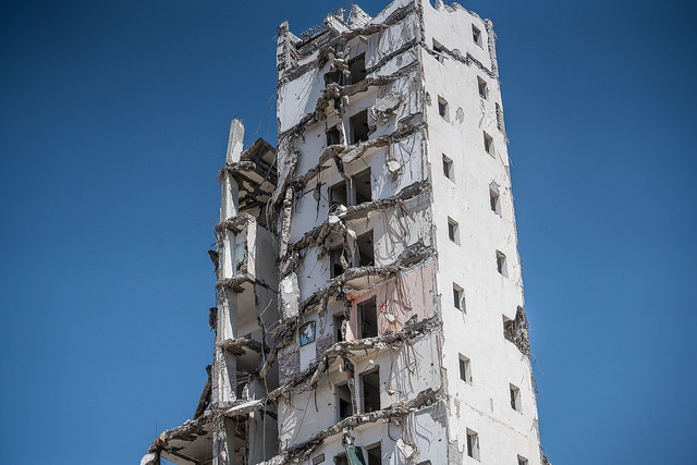 Gaza bombed building