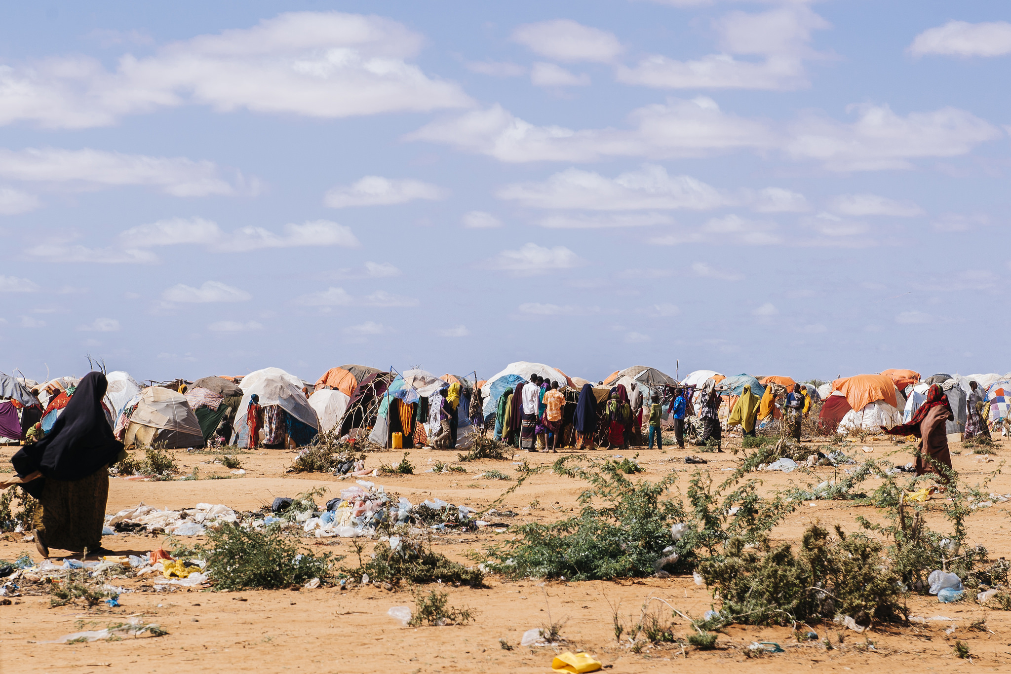 Somalia refugee camp