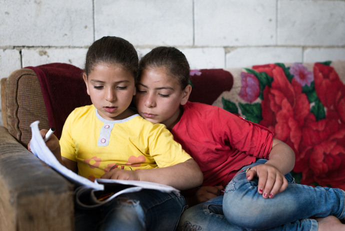 Maya, 10, is a Syrian refugee who has fled the war and lives with her family in the Beqaa valley in Lebanon.