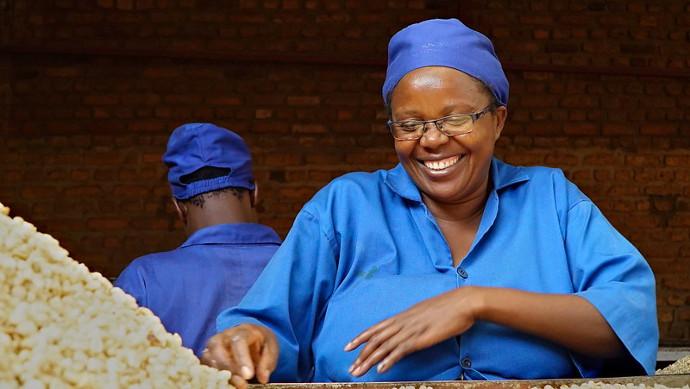 Immaculée Mukobwujaha, worker at the SOSOMA factory. Photo: Raja Nundlall.