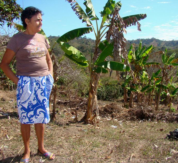 Aurora on her plot of land, Nicaragua