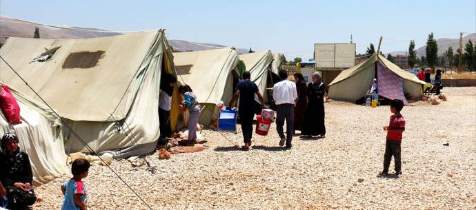 refugee settlement in Lebanon's Bekaa Valley