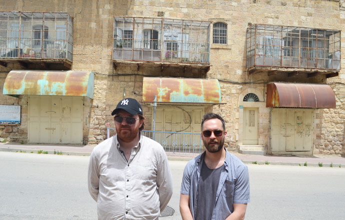 2FM Breakfast Republic hosts Bernard O'Shea and Keith Walsh in the old city of Hebron, which has been closed off to Palestinians. Palestinians are not allowed to walk down certain streets, leaving the old city as a ghost town.