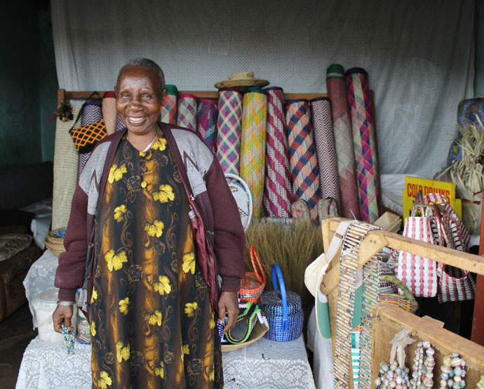 Bibianna with her crafts