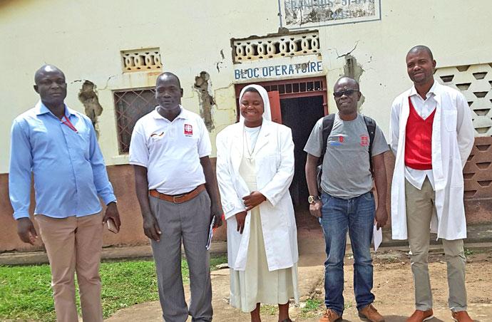 staff at biringo hospital drc