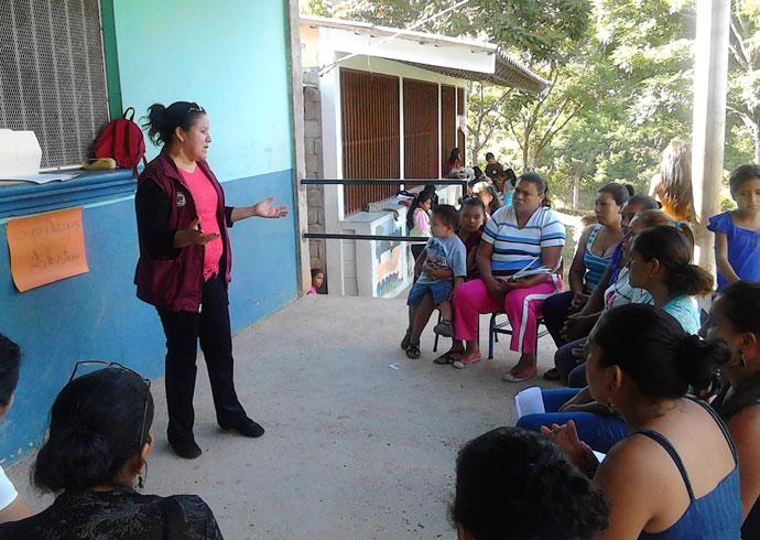 candida maradiaga delivering training
