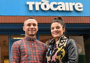 Carl & Christine Frampton at Trocaire office in Belfast