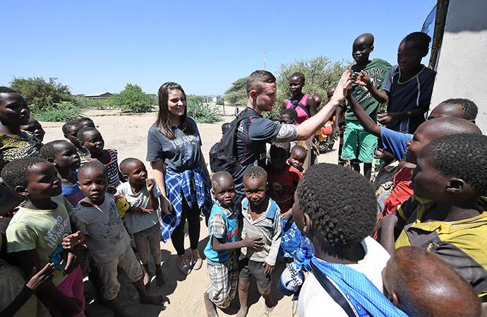 Carl Frampton in Kenya