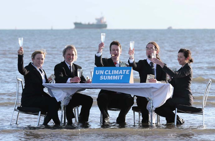 Trocaire climate summit Dollymount Strand