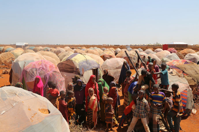 Camp on outskirts of Baidoa, Somalia