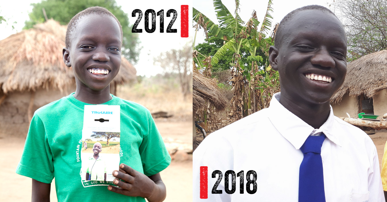 Daniel in 2012 and in 2018