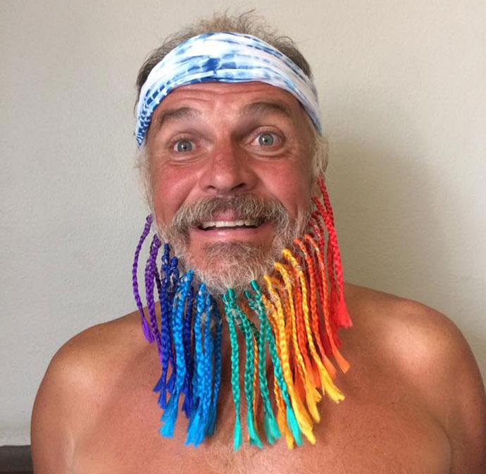 Dermot's colourful beard