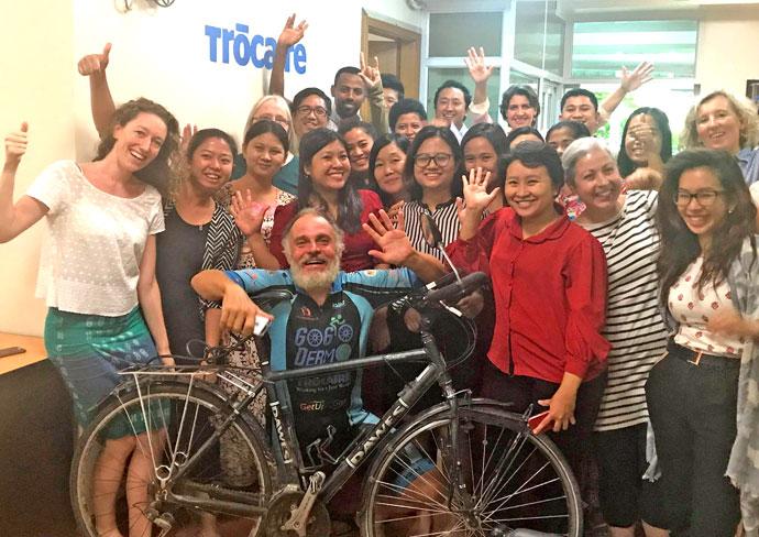 Dermot visits Trocaire office in Myanmar