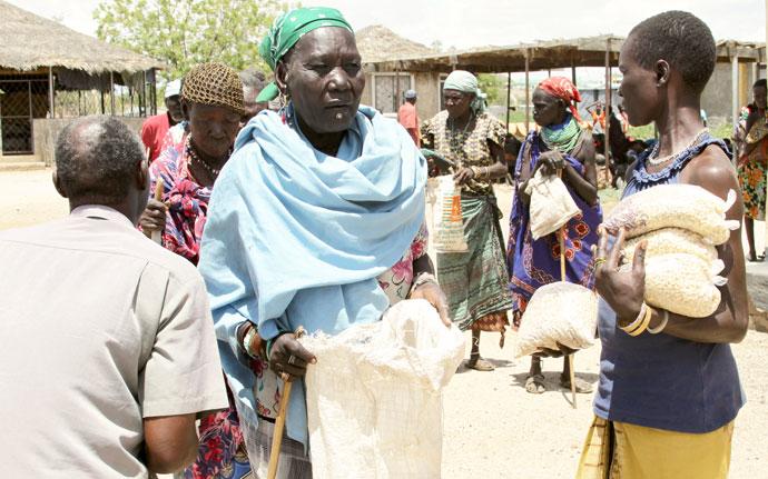 Food distribution in Lodwar