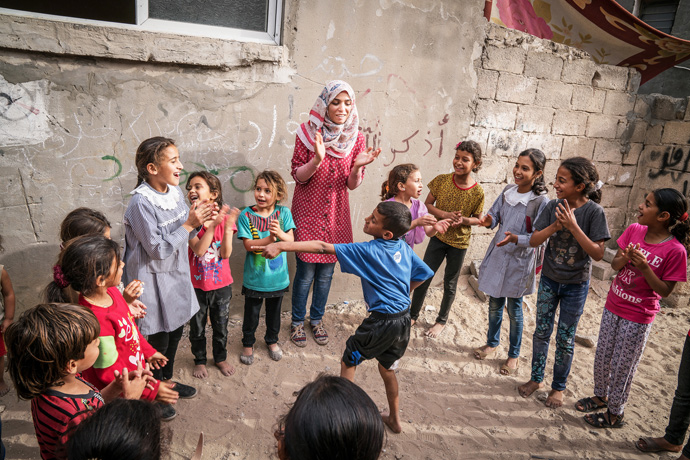 "Ola Dweek is a child psychologist in Gaza: ""I counsel the children affected by the trauma of war. They have constant nightmares. They are bed wetting. They have completely changed. It's heart-breaking."" (Photo: John McColgan)"