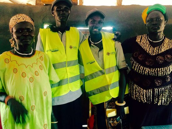 Volunteer health promoters at a Trócaire-funded project in Yirol, South Sudan
