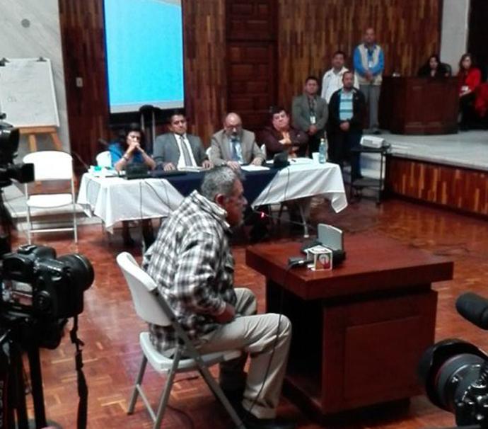 Heriberto Asij makes final plea to the court.