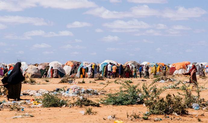 Camp for the internally displaced at Dollow, Somalia. Photo: Amunga Eshuchi, May 2017