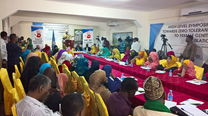 Trócaire and IFRAH Foundation, hold high level conference on female genital mutiliation in Mogadishu.