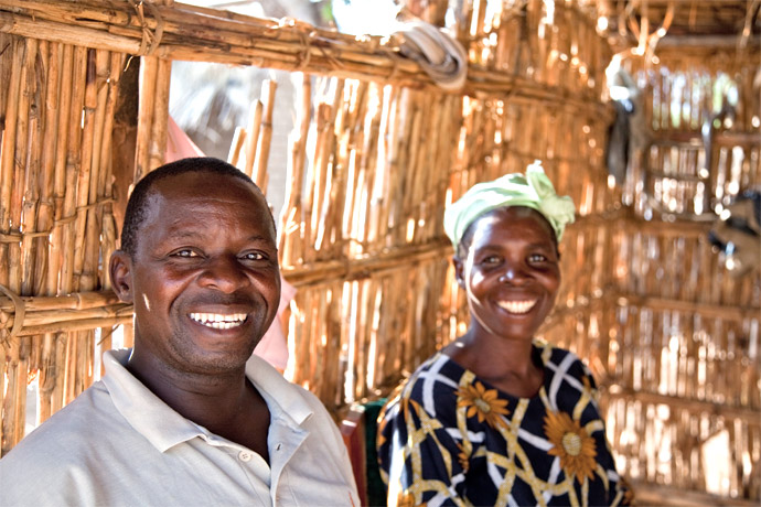Husband and wife, Chakuwamba and Aida Thole, struggled to provide for their family in Chikwawa, southern Malawi