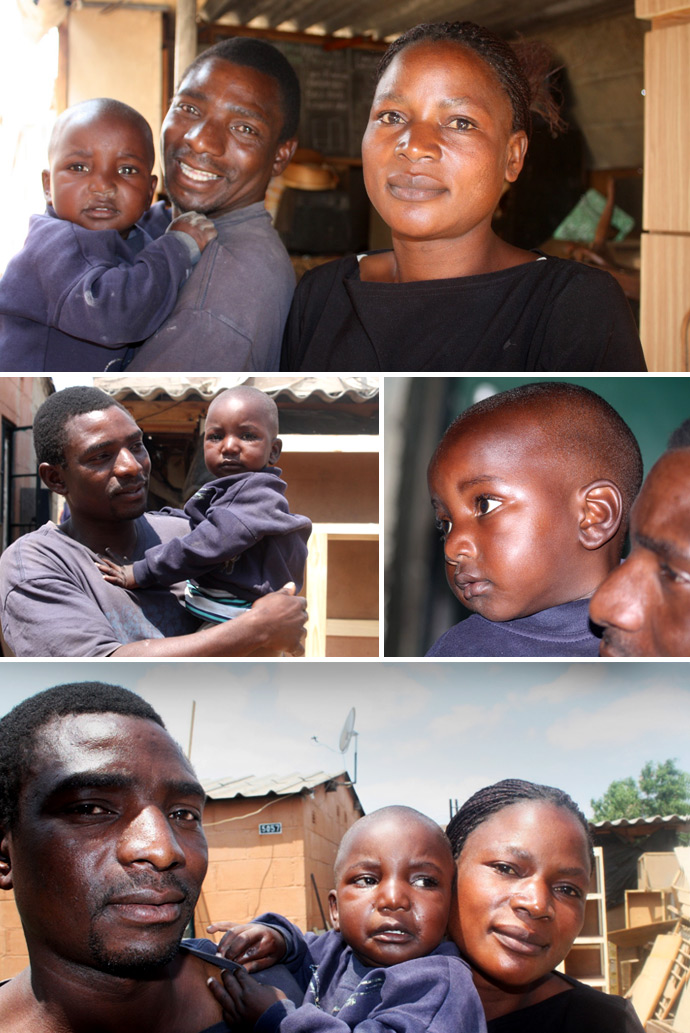 Martha and Micheal with their son Tapiwa. Although Martha is living with HIV, Tapiwa was born HIV free