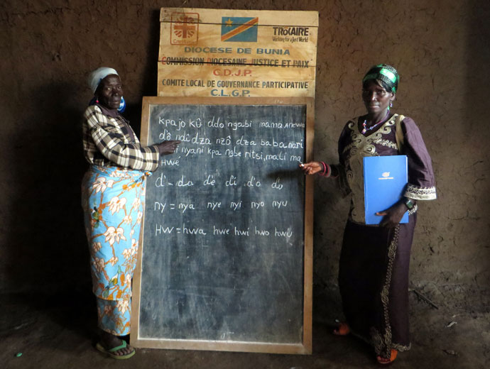 Literacy training in Democratic Republic of Congo