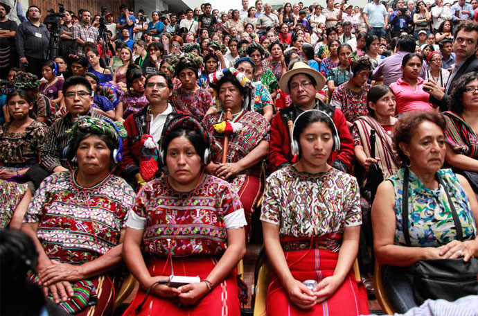 ixil mayans at rios montt trial