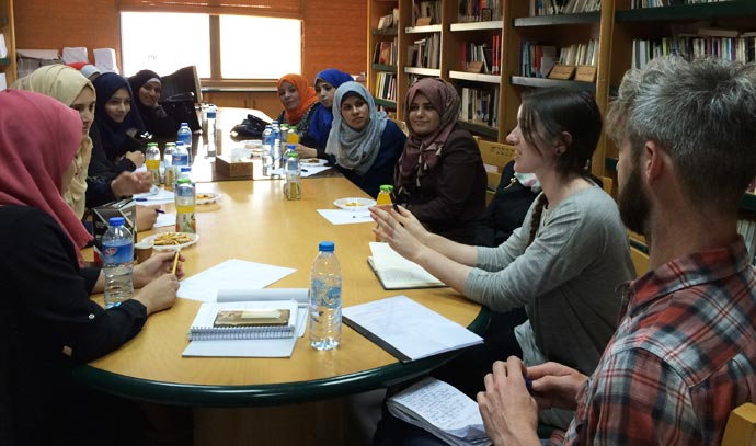 Meeting at Women's Affairs Center