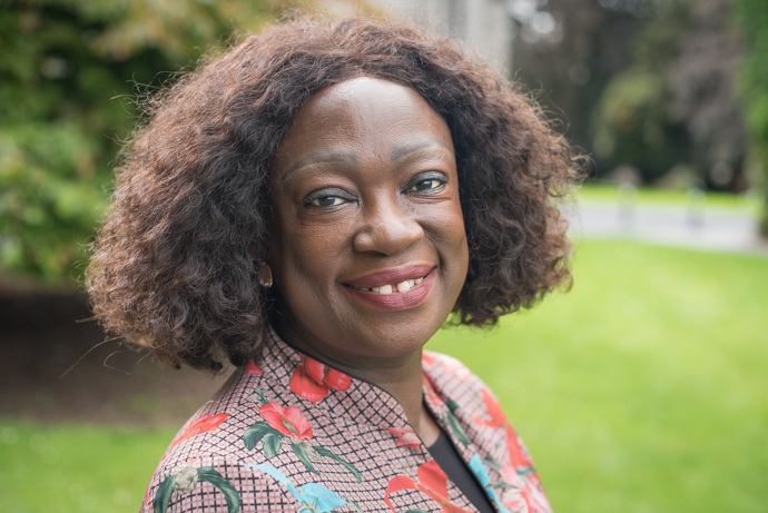 Jestina Mukoko, Director of the Zimbabwe Peace Project, visiting Ireland in August 2018. Photo : Garry Walsh, Trócaire.