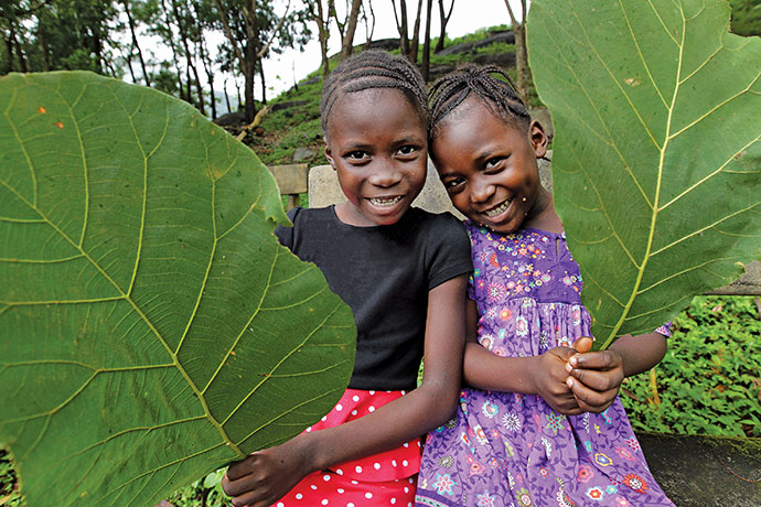 Kumba with her sister Fatu