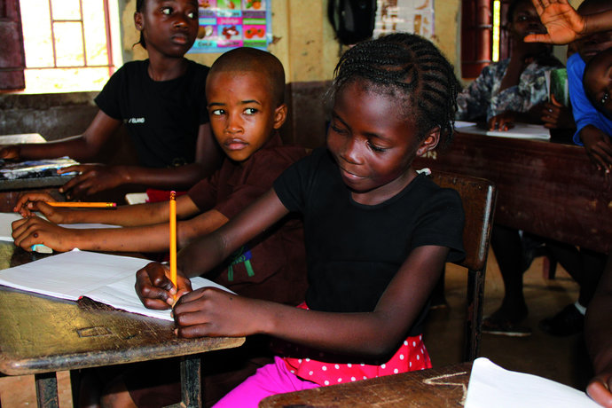 kumba in her classroom