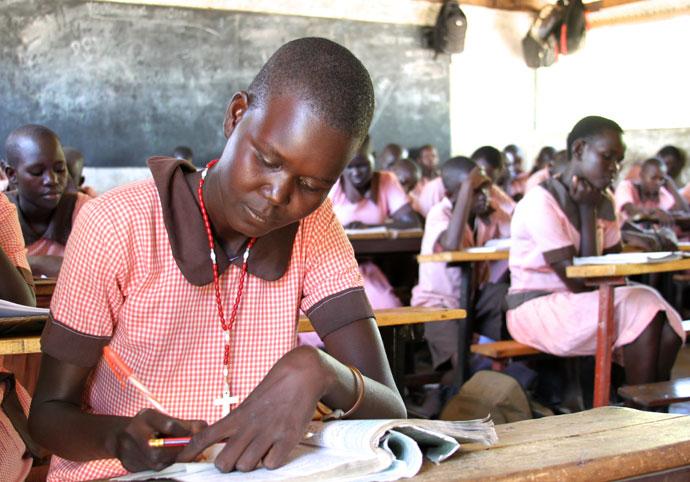 Students at St. Lwanga Nakwamewi Primary School