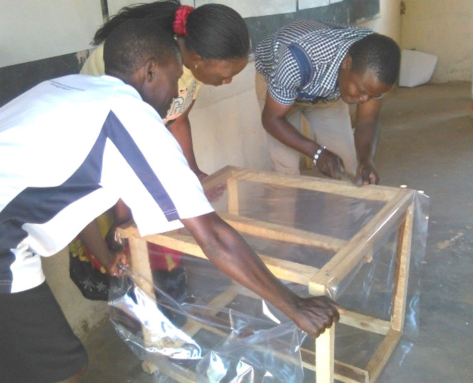 Making a solar dryer