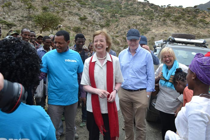 Mary Robinson in Ethiopia with Trocaire