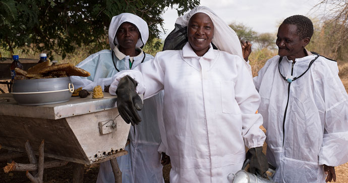 Members of Mwasuma beekeepers in Kitui