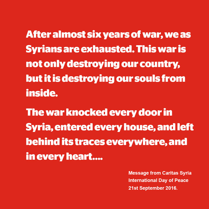 Message from Caritas Syria