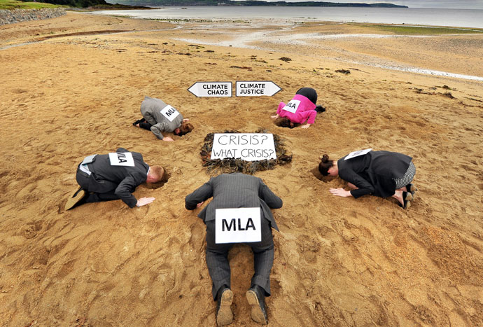 mla heads in sand