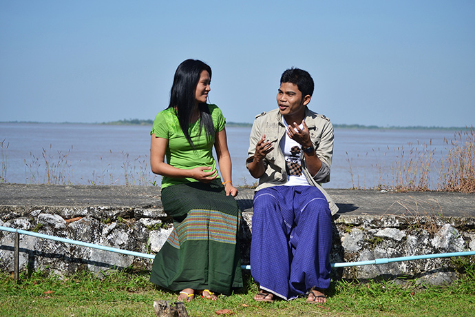 Members of a youth group in southern Myanmar, that have undergone gender training