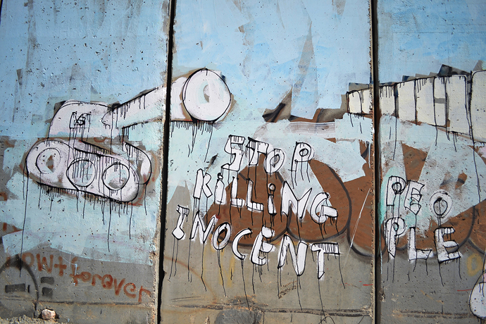 Graffiti on the separation wall in Bethlehem