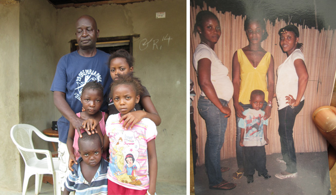 Patrick Sesay and his family in Sierra Leone