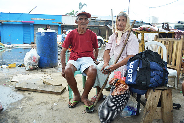 Gerardo and Jovita Amantillo on Leyte Island in the Philippines after Typhoon Haiyan in November 2013.