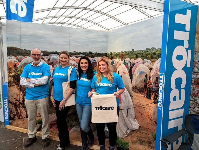 Trócaire staff and volunteers manning the stand at the 2018 Ploughing Championships