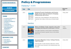 Policy and programme documents