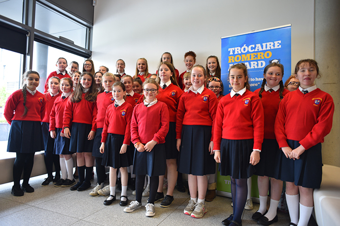 Students from St. Mary's Convent, Nenagh. Photo : Garry Walsh