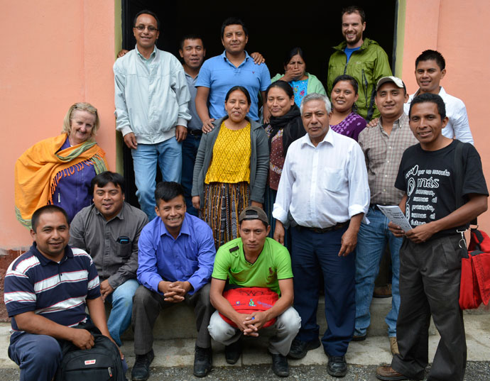 Rose Hogan and various Trocaire partners in Guatemala at ecological agriculture workshop