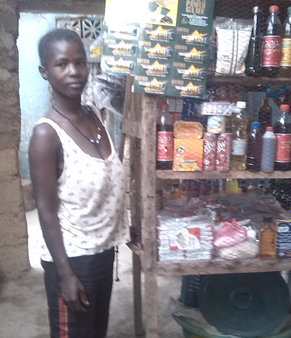 Esther Bangura from Sierra Leone in her shop, which she started with Trócaire support after surviving a violent marriage
