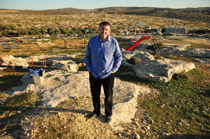 Sean Farrell of Trócaire in the village of Susiya