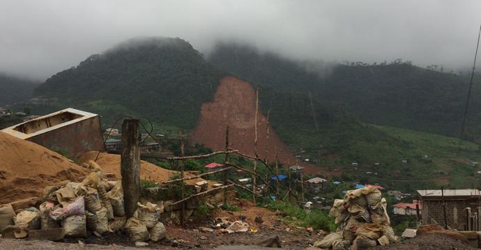 Mudslides in Freetown Sierra Leone