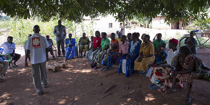 Community briefing in Yambio, South Sudan